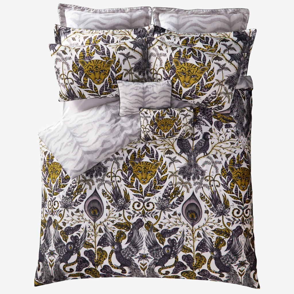 The golden Amazon bedding set, designed by artist Emma J Shipley is the perfect maximalist duvet set