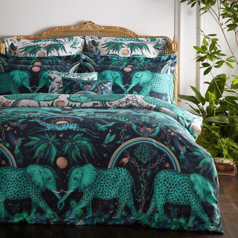 Zambezi Oxford Pillowcase - Teal - Single