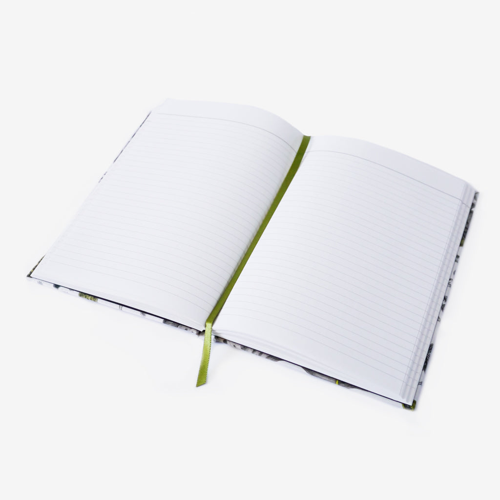 The Elven Silk Notebook features luxurious lined paper