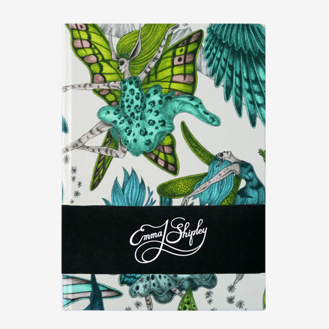 The magical fairies of the Elven design are hand drawn by Emma J Shipley, inspired by the Cottingly fairies