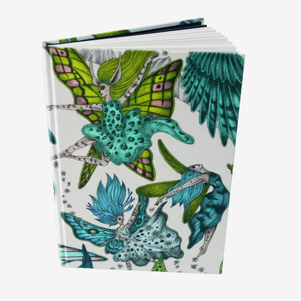 Take a closer look at the Elven Silk notebook designed by Emma J Shipley