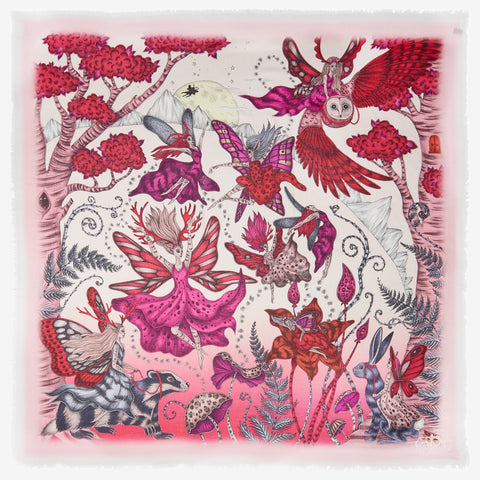 The imaginative and detailed Elven design upon a sumptuously soft Modal Blend Scarf, designed by Emma J Shipley