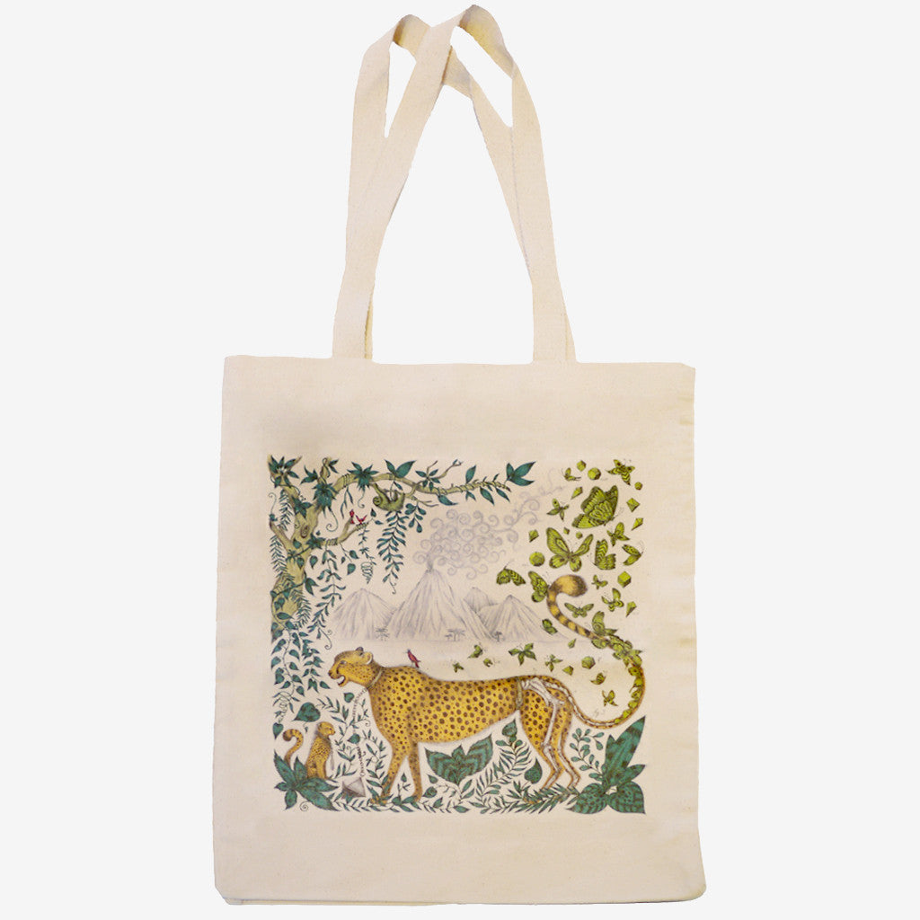 The Cheetah Tote bag is made from heavyweight fairtrade cotton canvas.