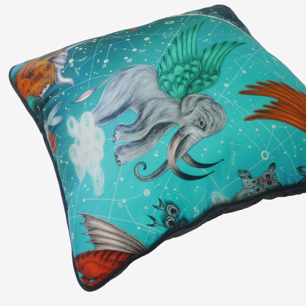 A closer look at the Constellation Printed Cushion by luxury designer and illustrator Emma J Shipley