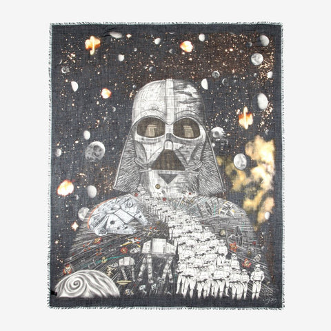 Darth Vader star wars scarf by Emma J shipley for men or women