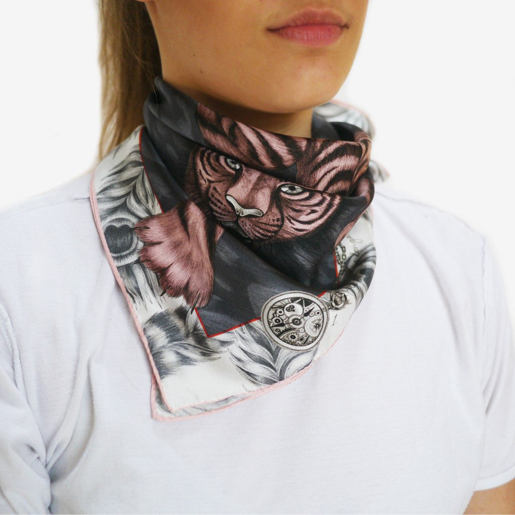 How to wear a silk 60x60cm neckerchief by Emma J Shipley.