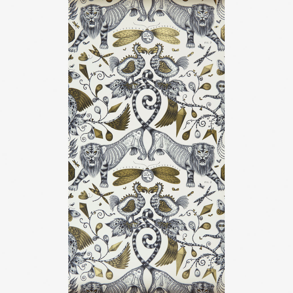 The wonderful Extinct wallpaper designed by Emma J Shipley x Clarke & Clarke