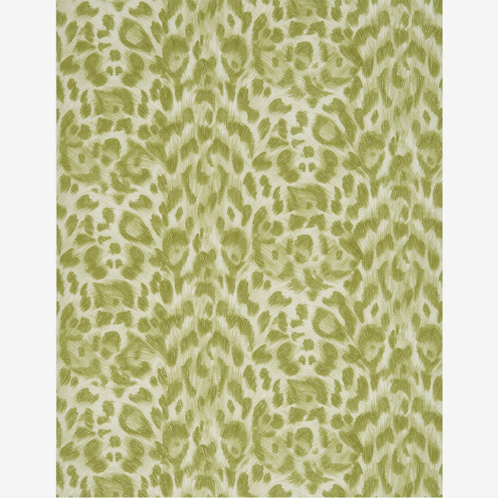 A better look at the full width of wallpaper with the Felis Lime Print on it, hand illustrated by Emma J Shipley with Clarke & Clarke. The Felis wallpaper is the perfect accent wallpaper that also makes a huge statement if used entirely.