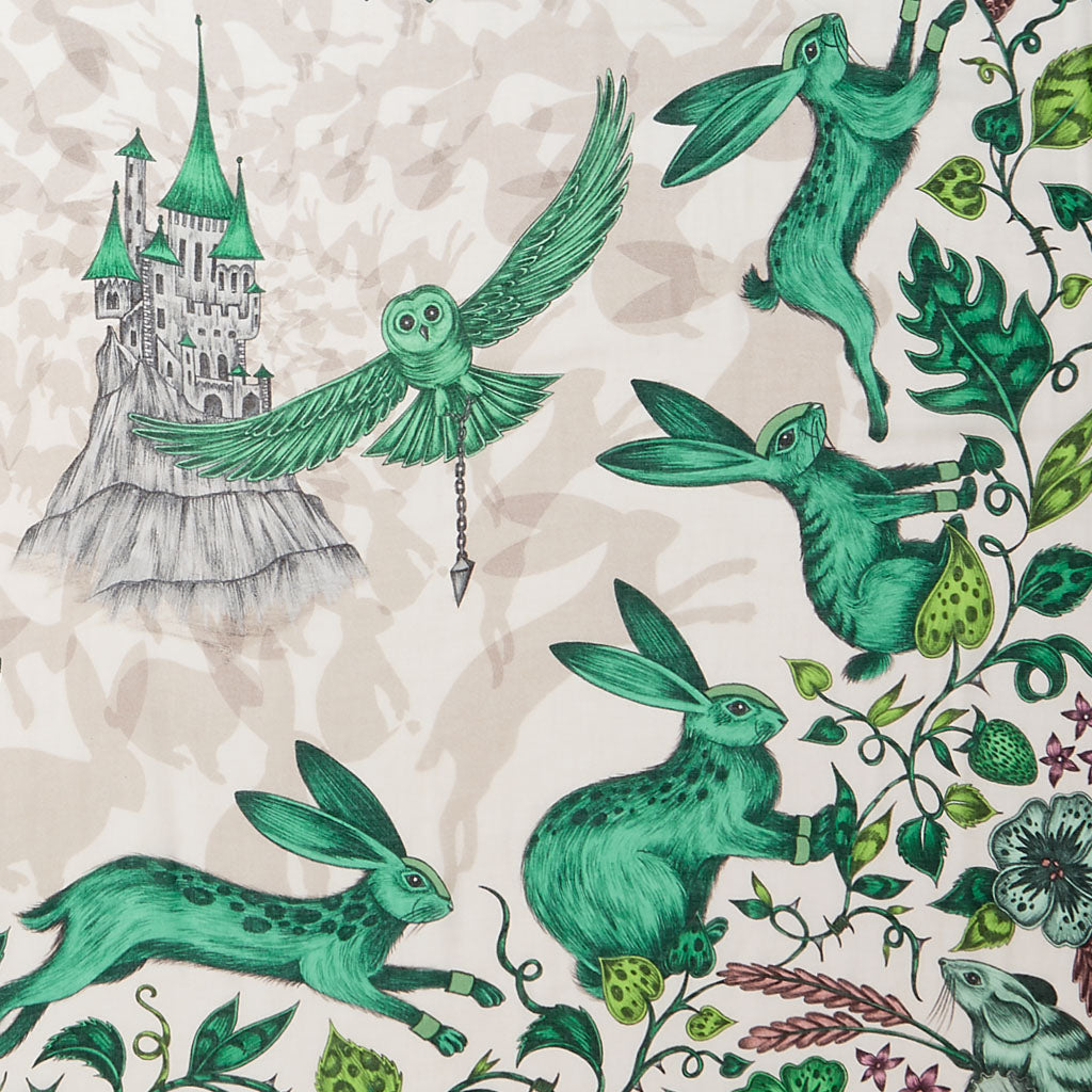 Details of the glorious Frith design in lime by Emma J Shipley