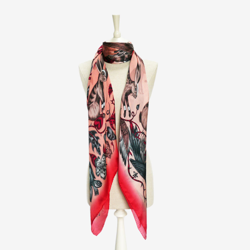 How to wear the Frith design in the Silk Chiffon Scarf by Emma J Shipley