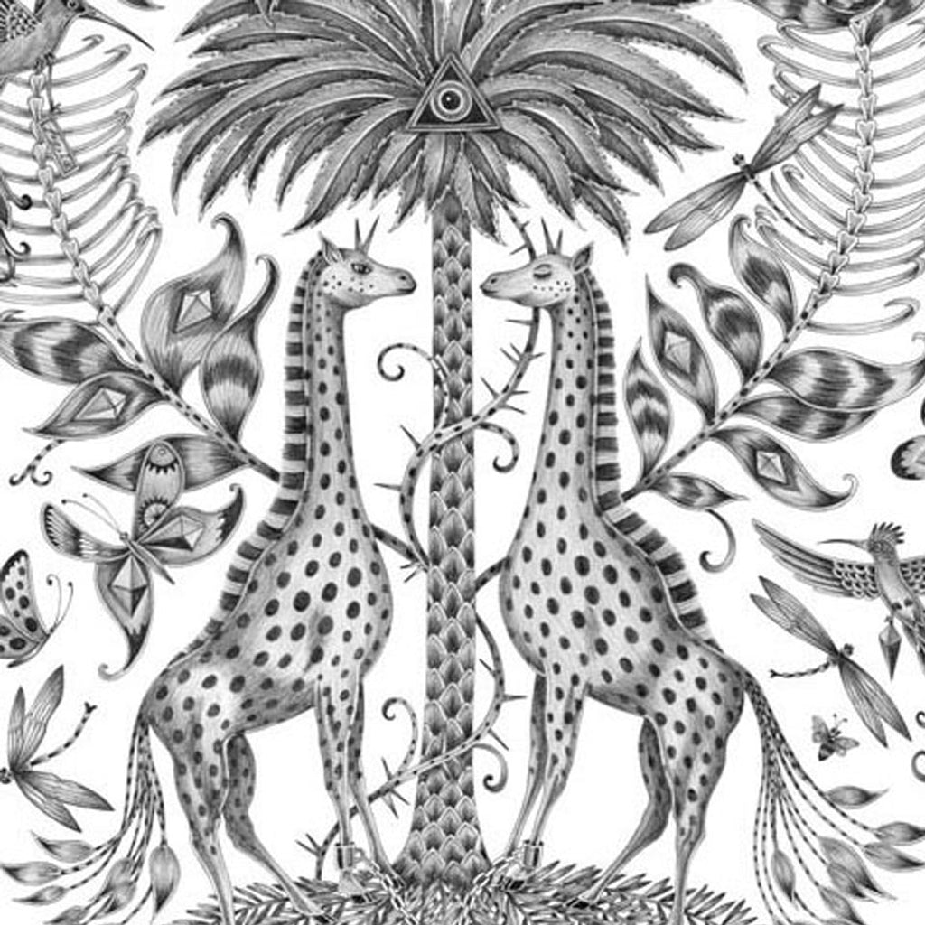 The giraffes surround a magical palm tree in the Kruger design by Emma J Shipley