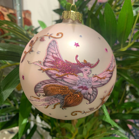 Flying Fairy Bauble - Pink