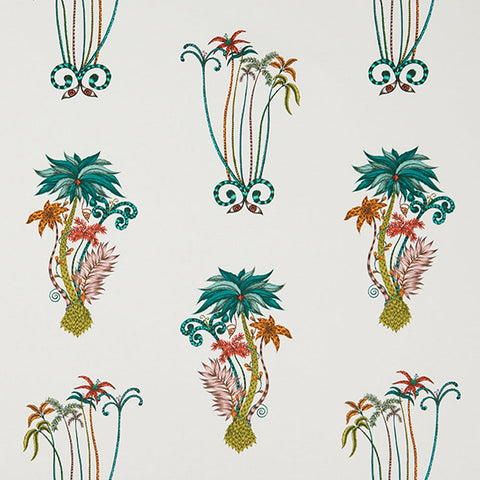 *PRE ORDER* Jungle Palms Cotton Satin Fabric
