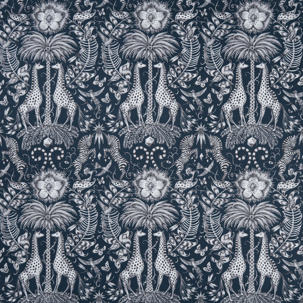 Kruger is a maximalist and luxurious design, hand drawn by Emma J Shipley for a collaboration with interiors experts Clarke and Clarke
