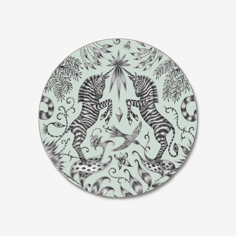 Emma J Shipley and Jamida collaborated on theKruger Coaster, featuring a hand drawn scene of magical unicorn horned zebras and other safari creatures