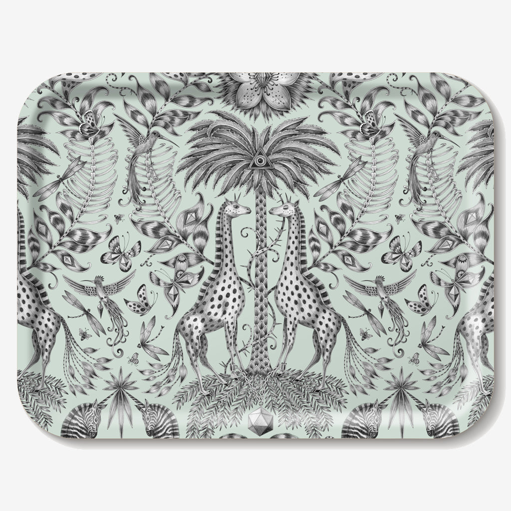 The Kruger Tray is adorned with safari-inspired creatures hand-drawn by Emma J Shipley