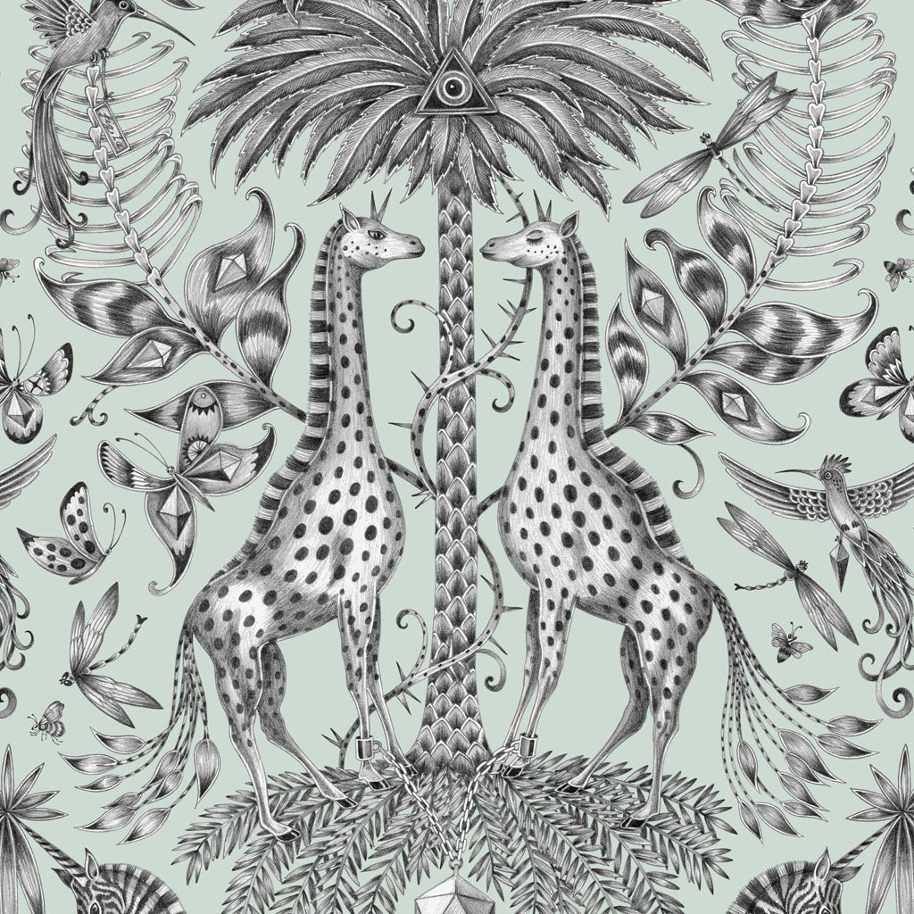 Emma J Shipley and Jamida collaborated on the stunning Kruger Placemat, featuring 2 towering giraffes and a beautiful safari scene