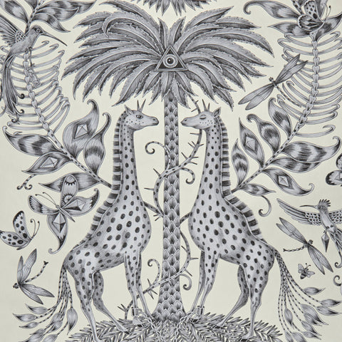 Detail of the fantastical Kruger Wallpaper designed by Emma J Shipley x Clarke & Clarke