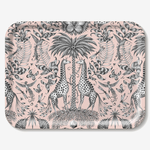The intricately designed Kruger Tray features animals inspired by a safari visit, designed by Emma J Shipley
