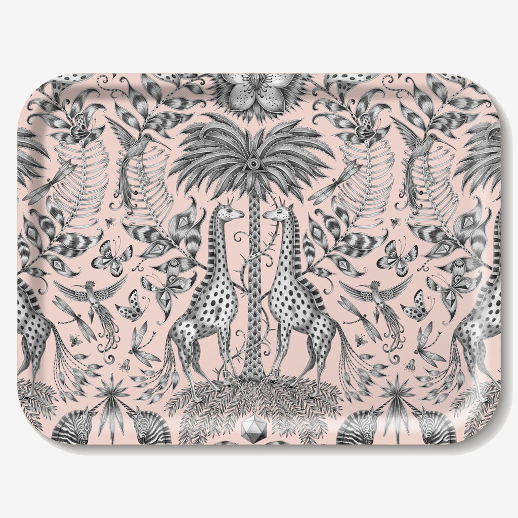The Kruger Tray features an array of enchanting safari animals hand drawn by Emma J Shipley
