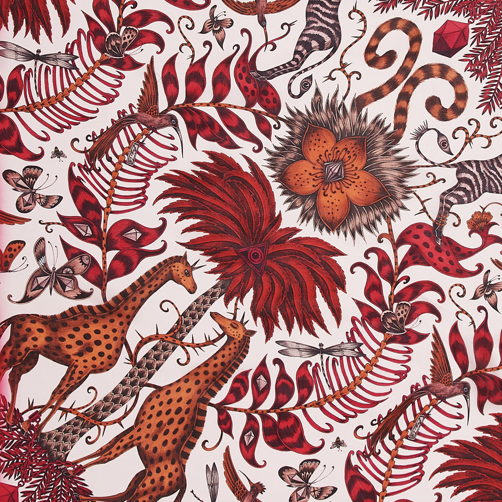 This 100% silk Chiffon scarf in a vivid red colour to make a bold  statement