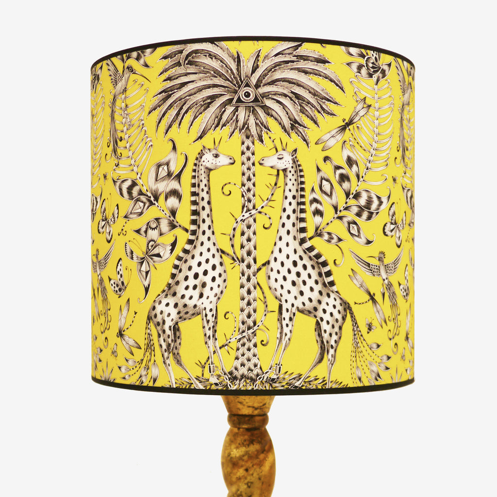 Fantastical giraffes grace the Kruger lampshade, a style statement in any interior. The perfect large shade for a floorlamp.