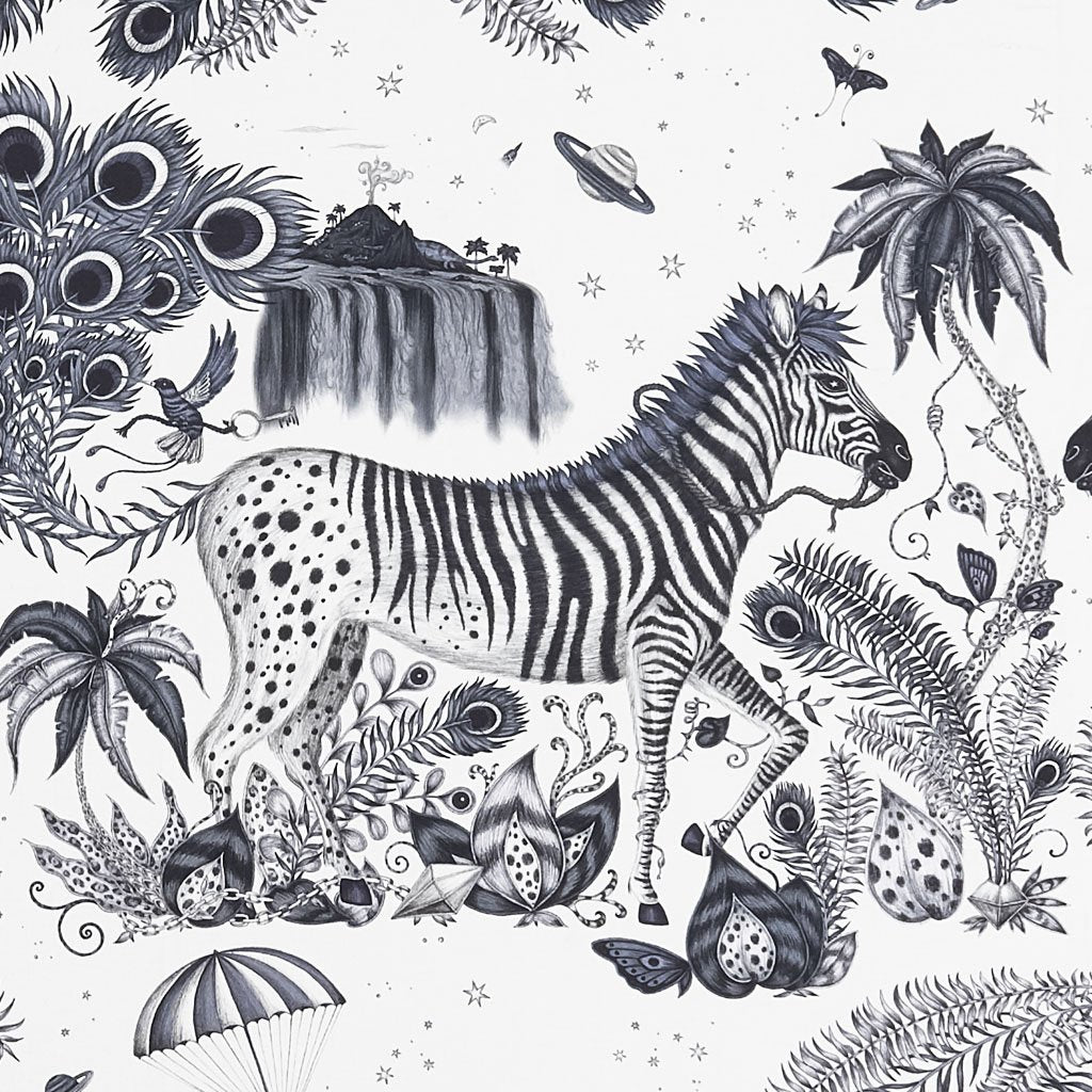 The Lost World Cotton Satin Fabric is the perfect fabric for cushions, furniture upholstery and much more! It's truly magical, hand drawn by Emma J Shipley