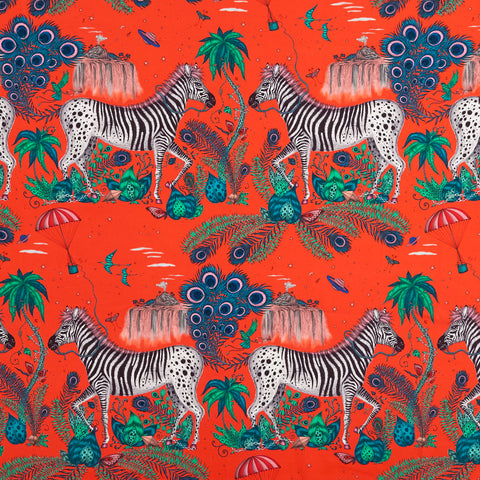 Lost World Cotton Satin Fabric