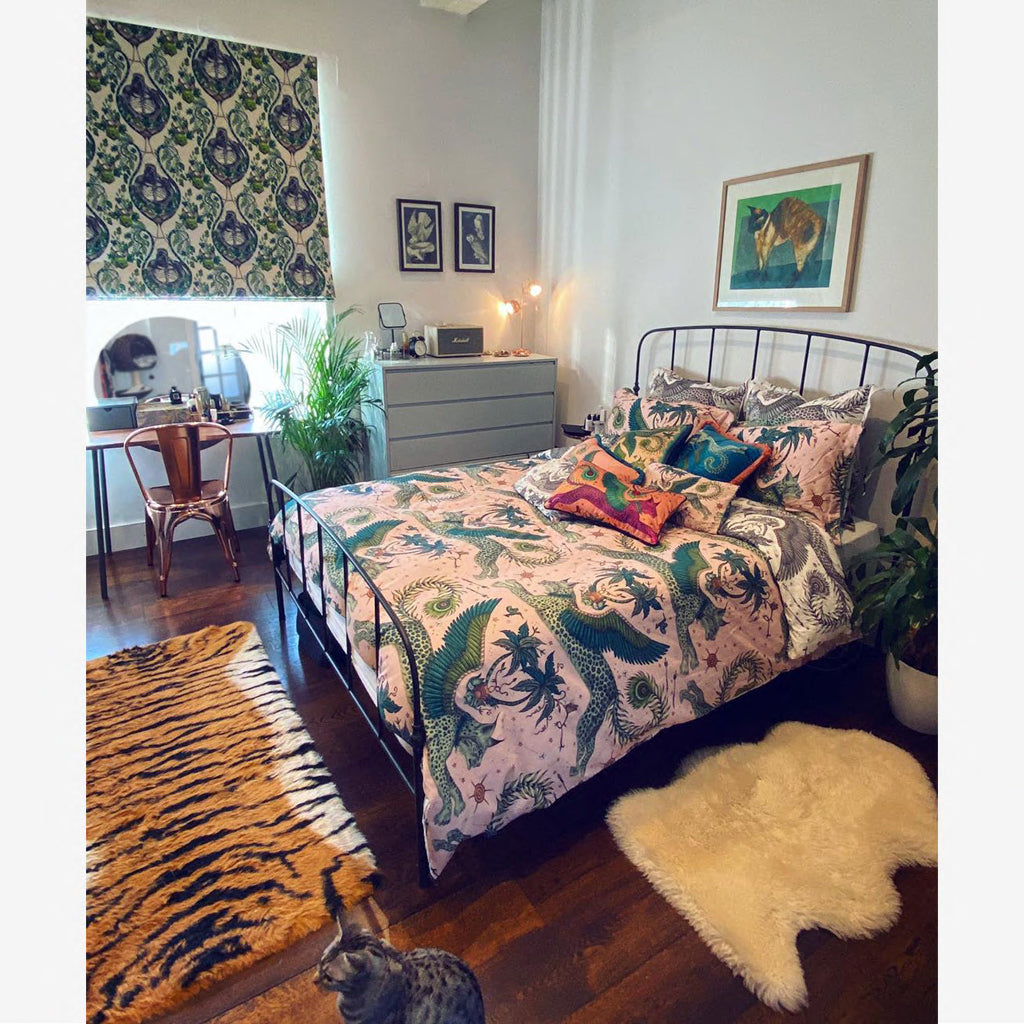 Lynx bedding is a great way to add a touch of the Emma J Shipley animal magic into your home interior, pair it with other Lynx cushions and pillowcovers