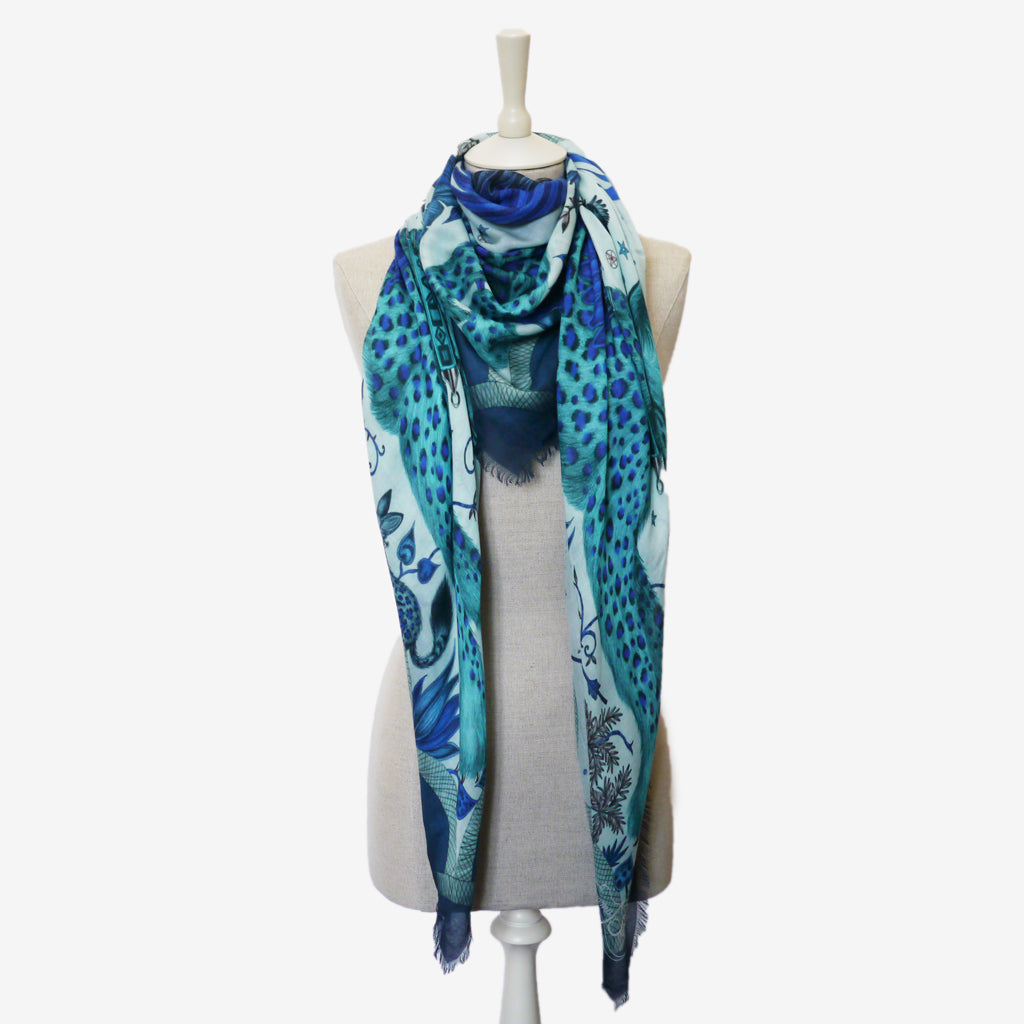How to style a Lynx modal blend scarf, designed by Emma J Shipley