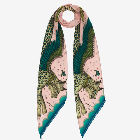 The lynx silk skinny scarf is inspired by the San mythology with a special EJS twist. A statement piece for the wilderness collection.