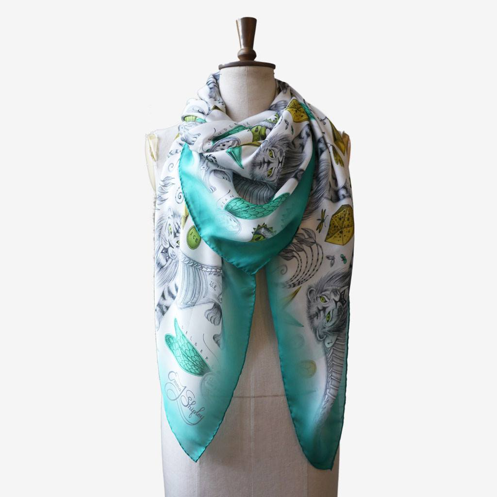 Extinct Silk Chiffon Scarf