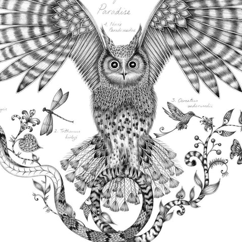 Owl of Paradise Mini Print - Unframed