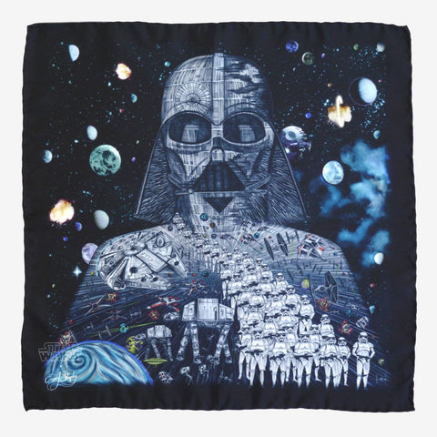 Star wars luxury art pocket square by Emma J Shipley