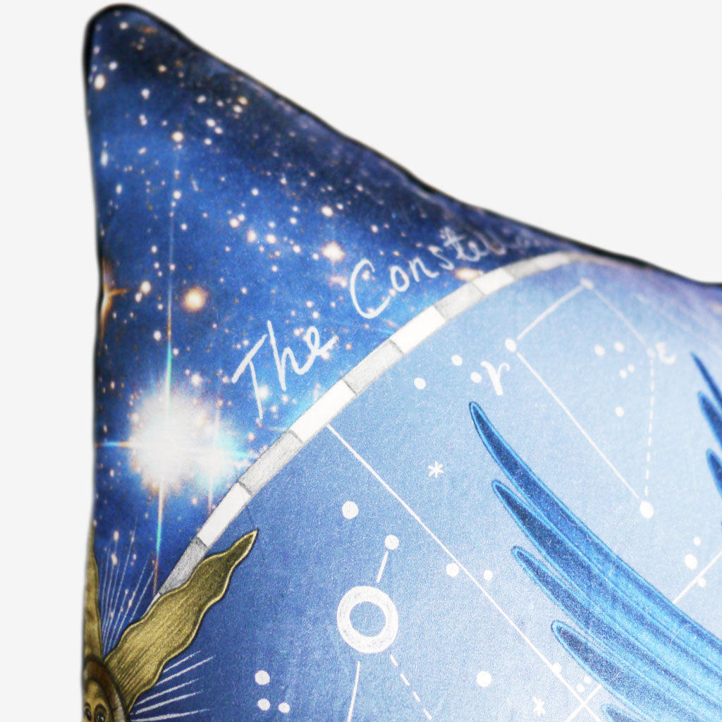 Turn your home into an intergalactic fantasy world with Emma J Shipley's Constellation Large Cushion
