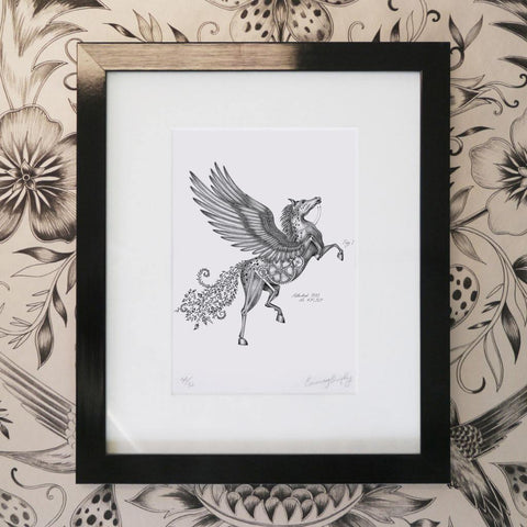 Pegasus Mini Print - Black Frame