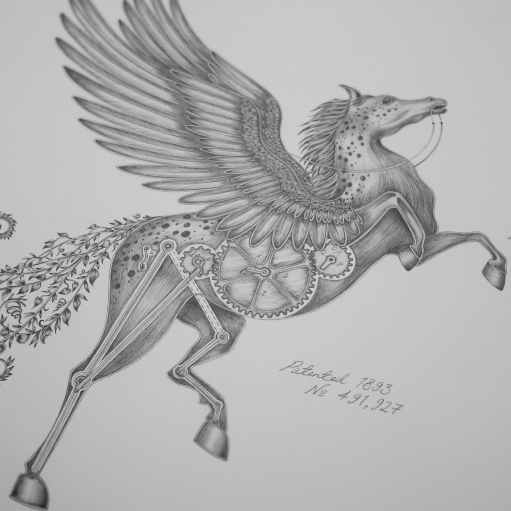 How to draw a pegasus, by luxury designer and illustrator Emma J Shipley.