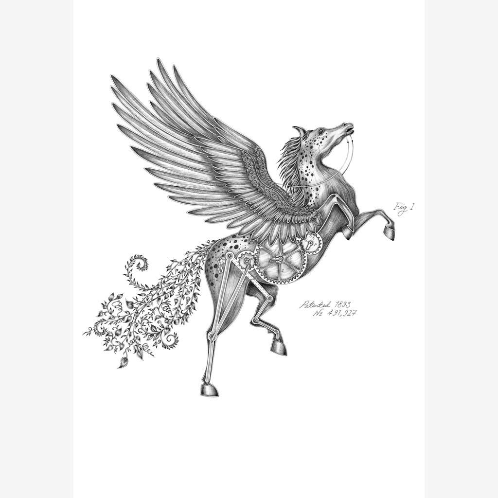 Pegasus Mini Print - Unframed