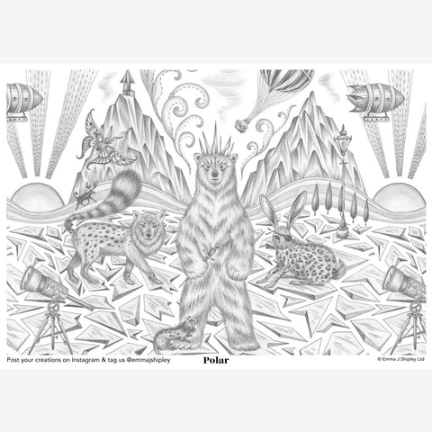 Polar Colouring Page Free Download
