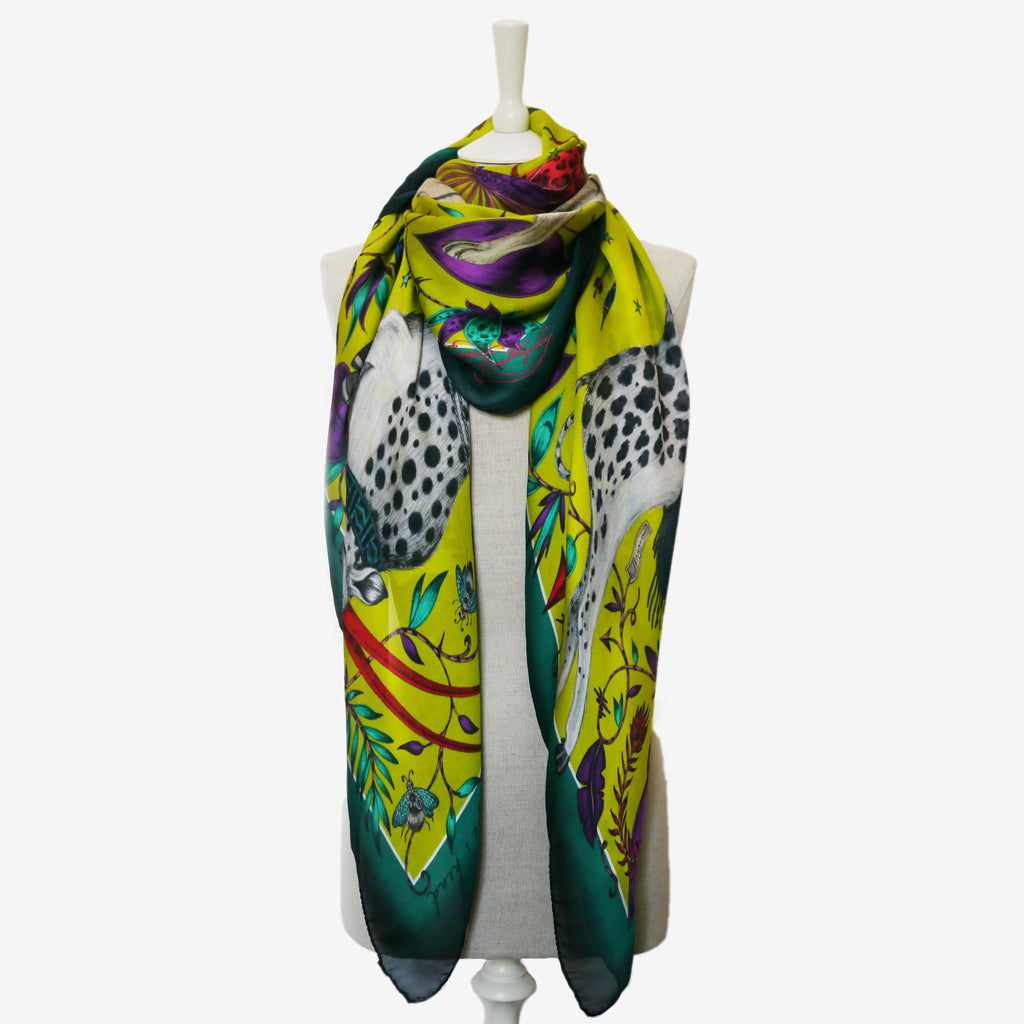 How to style a magical Protea Silk Chiffon Scarf, designed by Emma J Shipley for the wilderness collection