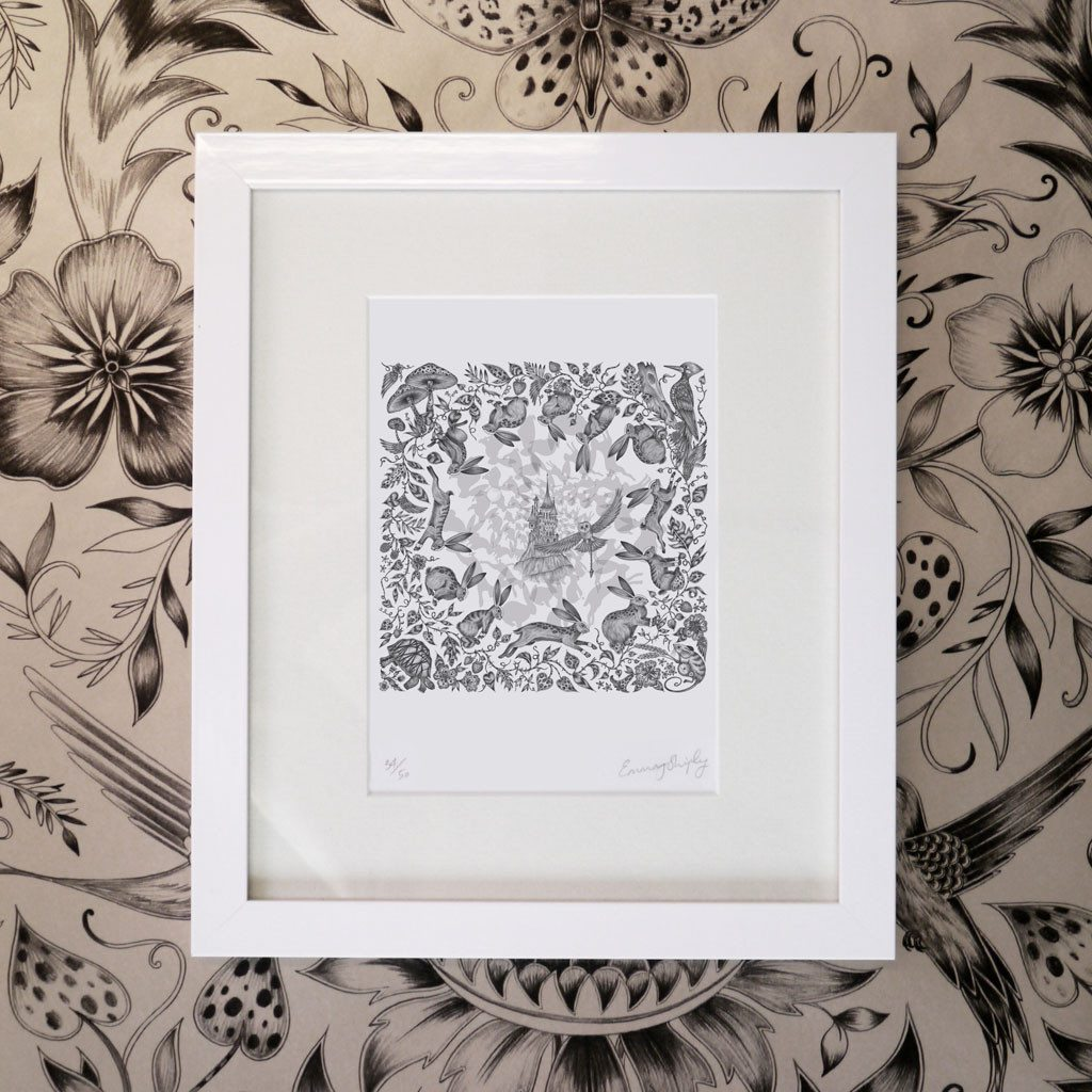 Frith Mini Print - White Frame