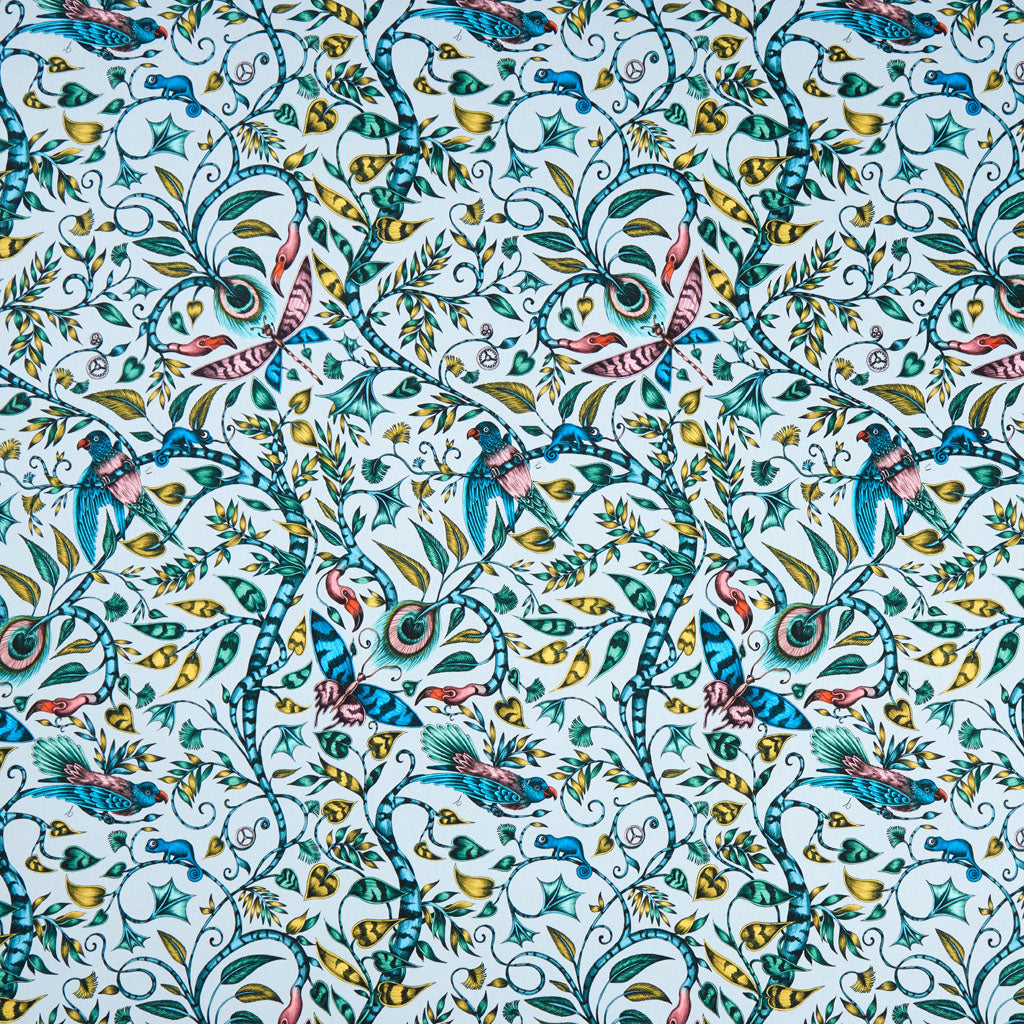 The stunning Rousseau cotton satin fabric designed by Emma J Shipley x Clarke & Clarke