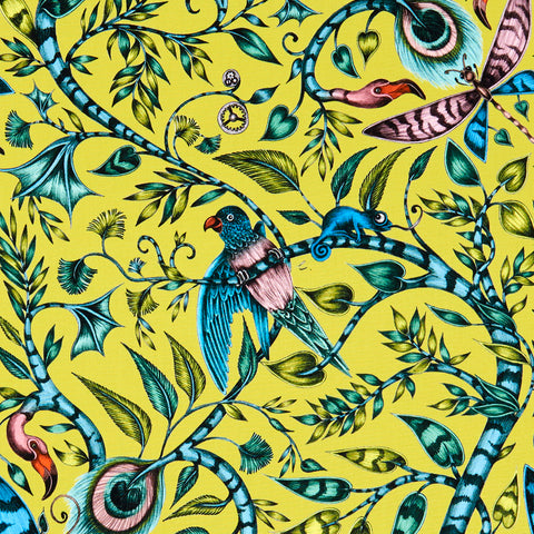 The beautiful Rousseau cotton satin fabric designed by Emma J Shipley x Clarke & Clarke