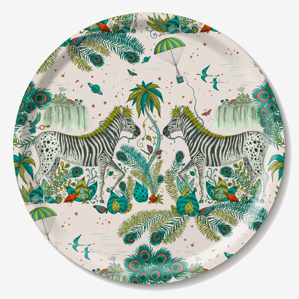 Emma J Shipley Lost World Round Tray Created in Collaboration With Jamida