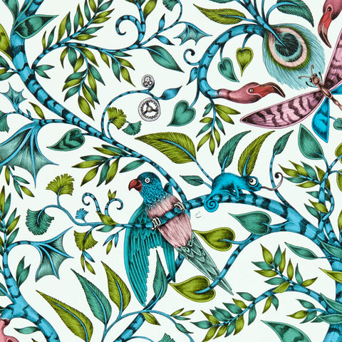 The beautiful Rousseau wallpaper designed by Emma J Shipley x Clarke & Clarke