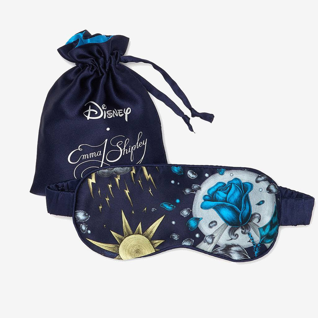 Perfect gift for a Disney fan - the Emma J Shipley Beauty and the Beast silk eye mask - luxury travel accessory