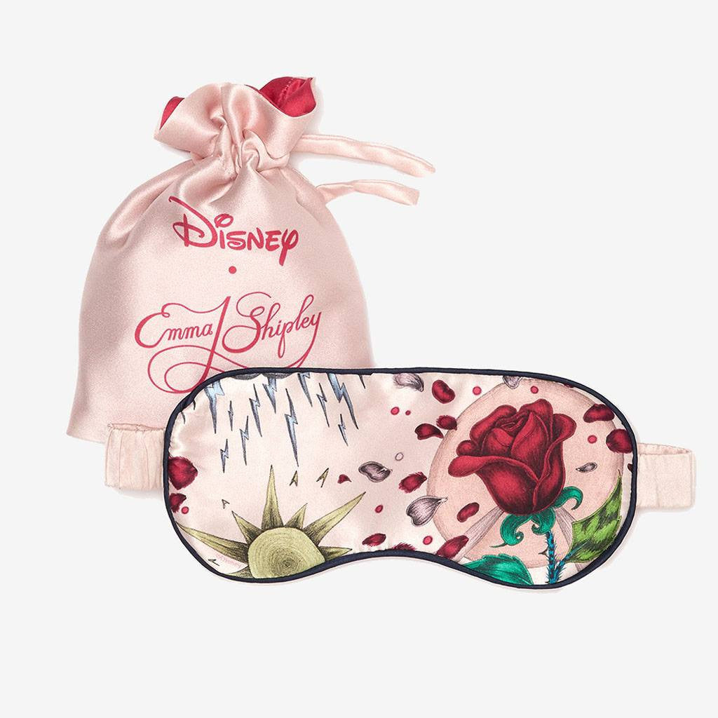 Disney Beauty and the Beast by Emma J Shipley silk eyemask in luxury travel pouch perfect gift