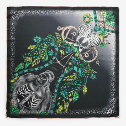 Silverback Silk Pocket Square