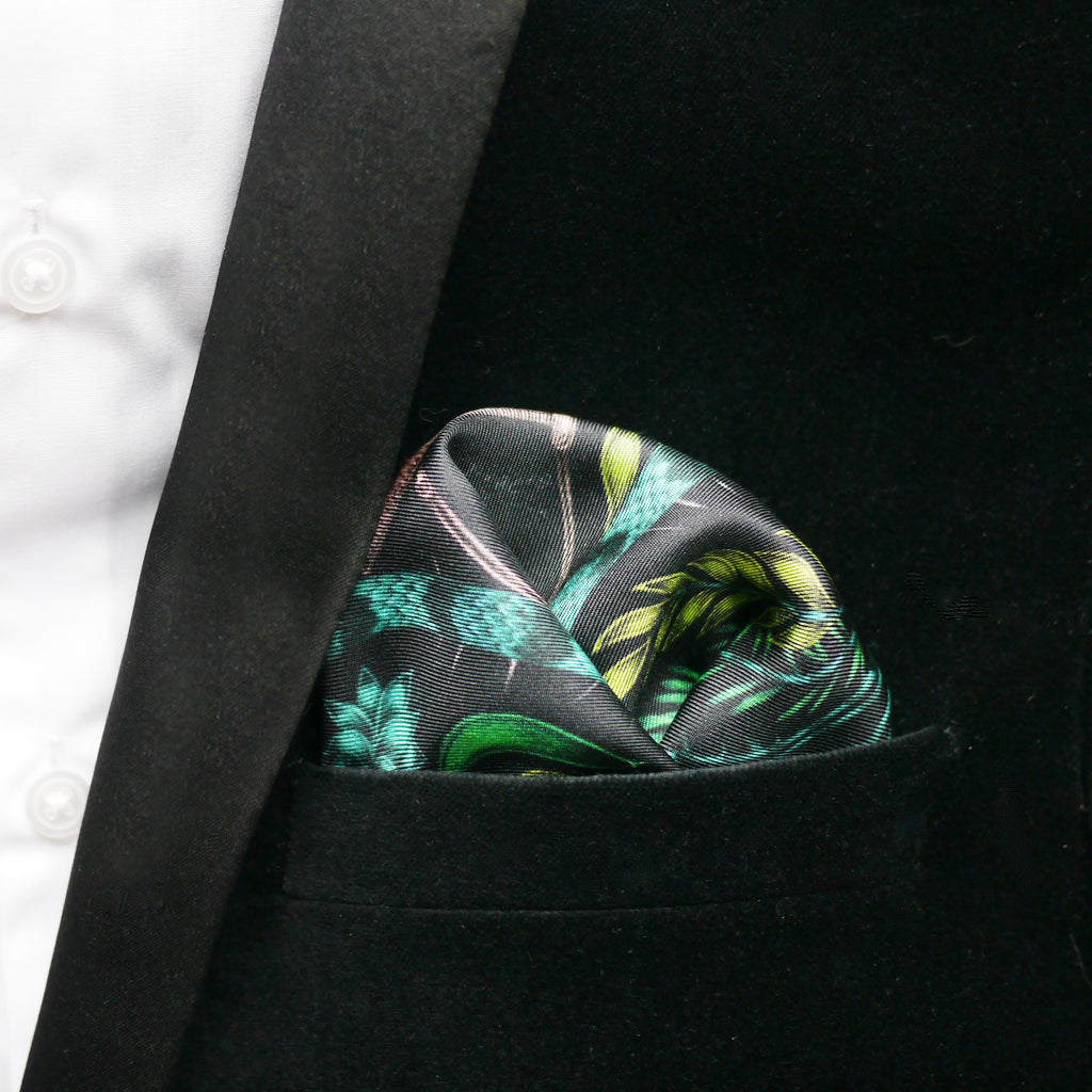 How to wear a pocket square, by luxury designer Emma J Shipley.