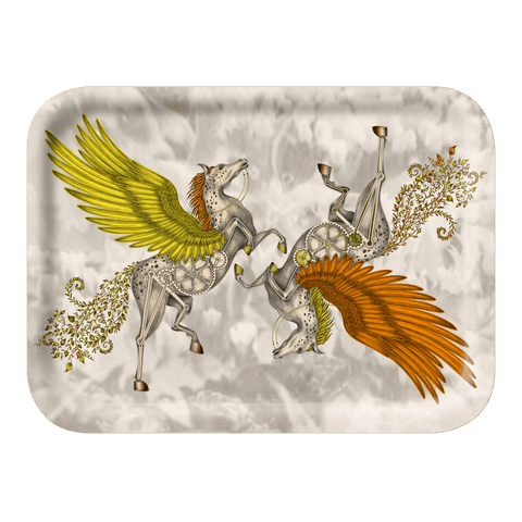 The Small Pegasus Gold Tray is the perfect trinket dish or tea tray, designed by Emma J Shipley inspired by Fantasy